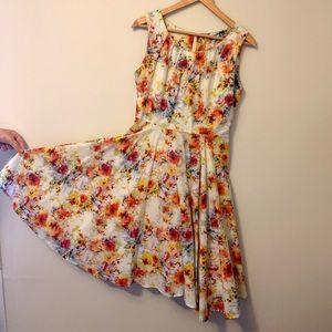 Annie 50 Floral Cocktail/Garden Dress